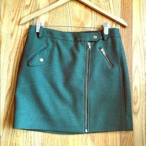 Never Worn JCrew Green Mini Skirt